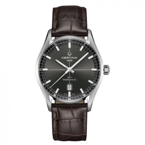 Szwajcarski, klasyczny zegarek męski Certina DS-1 Powermatic 80 C029.407.16.081.00 (C0294071608100)