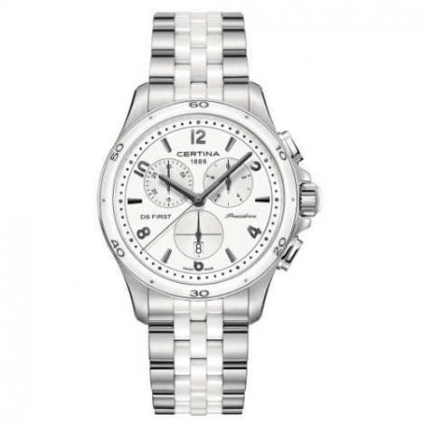 Szwajcarski, sportowy zegarek damski Certina DS First Lady Chronograph C030.217.11.017.00 (C0302171101700)