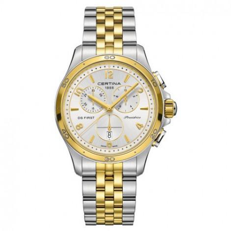 Szwajcarski, sportowy zegarek damski Certina DS First Lady Chronograph C030.217.22.037.00 (C0302172203700)