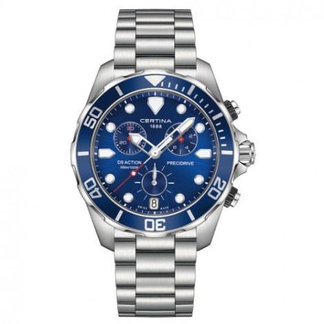 Szwajcarski zegarek męski do nurkowania Certina DS Action Chronograph C032.417.11.041.00 (C0324171104100)