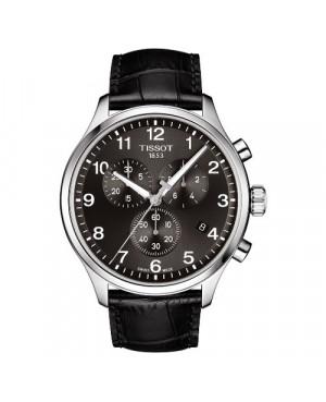 Szwajcarski, elegancki zegarek męski TISSOT CHRONO XL CLASSIC T116.617.16.057.00 (T1166171605700) na skórzanym pasku