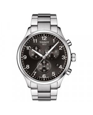 Szwajcarski, elegancki zegarek męski TISSOT CHRONO XL CLASSIC T116.617.11.057.01 (T1166171105701) na bransolecie