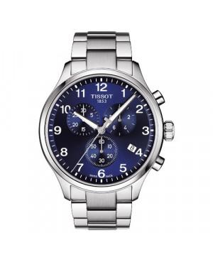Szwajcarski, sportowy zegarek męski TISSOT CHRONO XL CLASSIC T116.617.11.047.01 (T1166171104701) na bransolecie