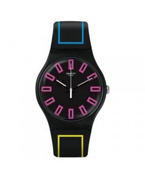 Szwajcarski, modowy zegarek damski SWATCH Originals New Gent SUOB146 AROUND THE STRAP