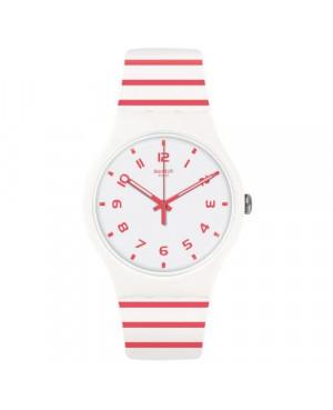 Szwajcarski, modowy zegarek damski SWATCH Originals New Gent SUOW150 REDURE