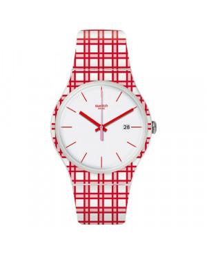 Szwajcarski, modowy zegarek damski SWATCH Originals New Gent SUOW401 PIKNIK