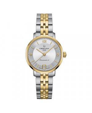 Szwajcarski, klasyczny zegarek damski Certina DS Caimano Lady Powermatic 80 C035.207.22.037.02 (C0352072203702)