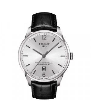 Szwajcarski, elegancki zegarek męski TISSOT Chemin Des Tourelles T099.407.16.037.00 (T0994071603700)
