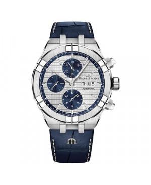 Szwajcarski sportowy zegarek męski MAURICE LACROIX Aikon Automatic Chronograph AI6038-SS001-131-1 (AI6038SS0011311)