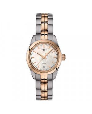 Szwajcarski, elegancki zegarek damski TISSOT PR 100 LADY SMALL T101.010.22.111.01 (T1010102211101) na bransolecie