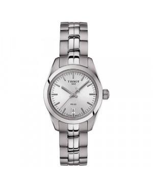 Szwajcarski, klasyczny zegarek damski TISSOT PR 100 Lady Small T101.010.11.031.00 (T1010101103100) na bransolecie