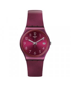 Szwajcarski, modowy zegarek damski SWATCH Originals Gent GR405 REDBAYA