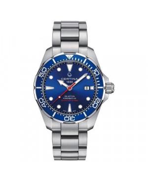 Szwajcarski zegarek męski do nurkowania CERTINA DS Action Diver Powermatic 80 C032.407.11.041.00 (C0324071104100)