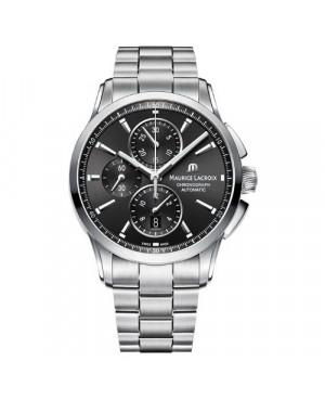 Szwajcarski sportowy zegarek męski MAURICE LACROIX Pontos Chronograph PT6388-SS002-330-1(PT6388SS0023301)