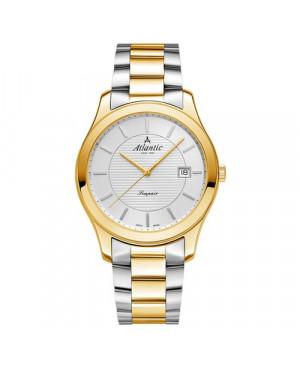 Szwajcarski, klasyczny zegarek damski ATLANTIC Seapair 20335.43.21G (203354321G)