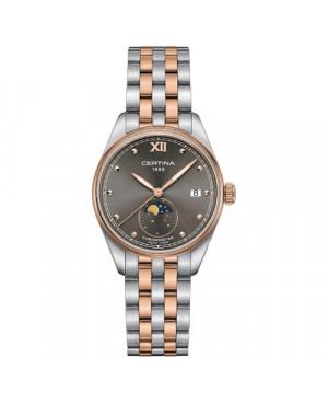 Szwajcarski, elegancki zegarek damski Certina DS-8 Lady Moon Phase C033.257.22.088.00 (C0332572208800)