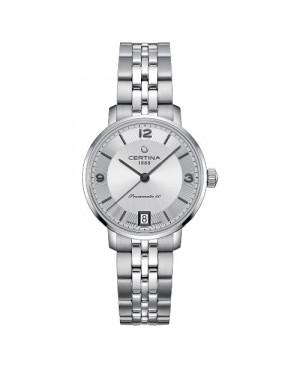 Szwajcarski, klasyczny zegarek damski CERTINA DS Caimano Lady Powermatic 80 C035.207.11.037.00 (C0352071103700)