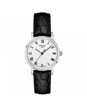 Szwajcarski, klasyczny zegarek damski TISSOT EVERYTIME SMALL T109.210.16.033.00 (T1092101603300) na pasku z cyframi