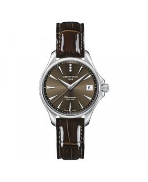 Szwajcarski, klasyczny zegarek damski Certina DS Action Lady Diamonds C032.051.16.296.00 (C0320511629600)