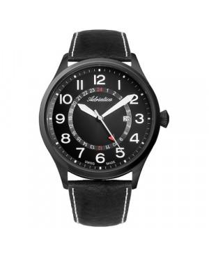 Szwajcarski, lotniczy zegarek męski ADRIATICA Aviator A8267.B224Q (A8267B224Q)