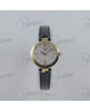 Szwajcarski, elegancki zegarek damski Tissot FLAMINGO T094.210.26.111.00 (T0942102611100) zegarek klasyczny biżuteryjny