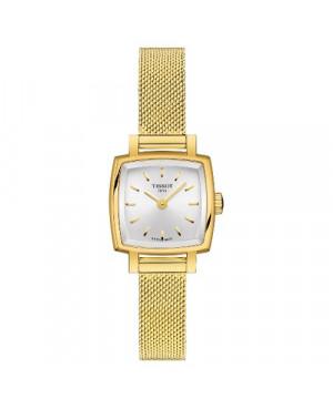 Szwajcarski, elegancki zegarek damski TISSOT LOVELY SQUARE T058.109.33.031.00 (T0581093303100) na bransolecie