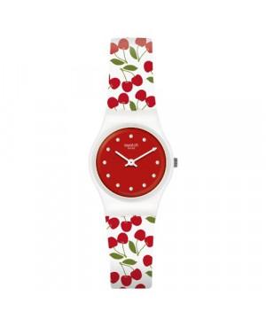 Szwajcarski, modowy zegarek damski SWATCH Originals Lady LW167 CERISE MOI