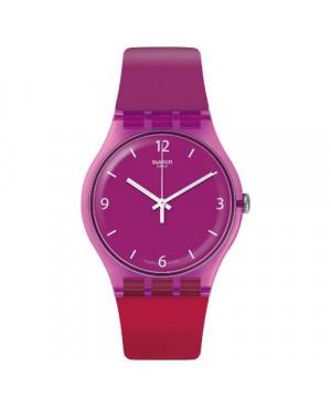 Szwajcarski, modowy zegarek damski SWATCH Originals New Gent SUOV104 CHERRYBERRY