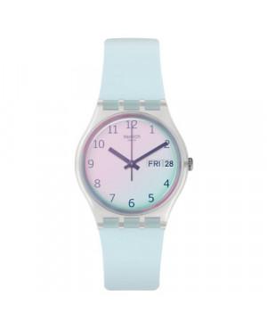 Szwajcarski, modowy zegarek damski SWATCH Originals Gent GE713 TRANSFORMATION ULTRACIEL