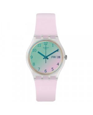 Szwajcarski, modowy zegarek damski SWATCH Originals Gent GE714 TRANSFORMATION ULTRAROSE