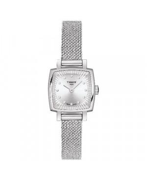 Szwajcarski, elegancki zegarek damski Tissot Lovely Square T058.109.11.036.00 (T0581091103600) na bransolecie