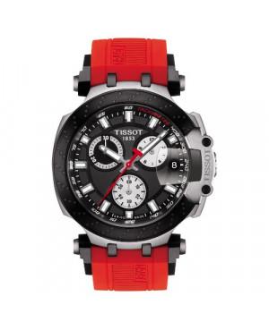 Szwajcarski, sportowy zegarek męski Tissot T-Race Chronograph T115.417.27.051.00 (T1154172705100) na kauczukowy pasku