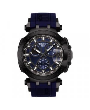 Szwajcarski, sportowy zegarek męski Tissot T-Race Chronograph  T115.417.37.041.00 (T1154173704100) na kauczukowym pasku