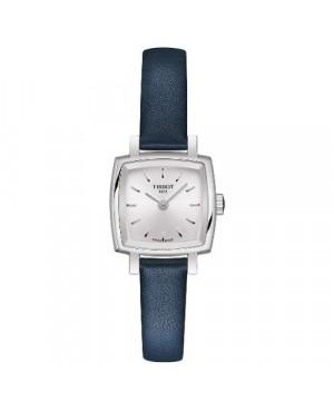 Szwajcarski, elegancki zegarek damski Tissot Lovely Square T058.109.16.031.00 (T0581091603100) na pasku Zegaris Rzeszów