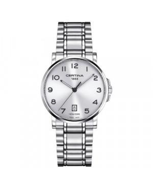 Szwajcarski, klasyczny zegarek męski, szwajcarski CERTINA DS Caimano Gent C017.410.11.032.00 (C0174101103200)