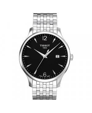 Szwajcarski, klasyczny zegarek męski Tissot Tradition Gent T063.610.11.057.00 (T0636101105700) na bransolecie