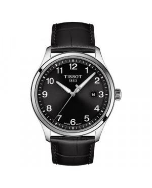 Szwajcarski, klasyczny zegarek męski Tissot GENT XL CLASSIC T116.410.16.057.00 (T1164101605700) na pasku z cyframi