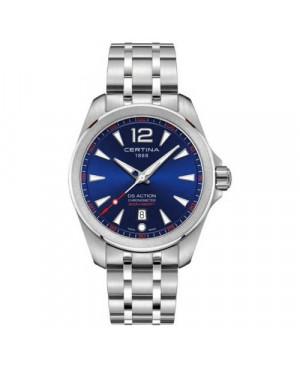 Szwajcarski, sportowy zegarek męski Certina DS Action Fixed Bezel C032.851.11.047.00 (C0328511104700)
