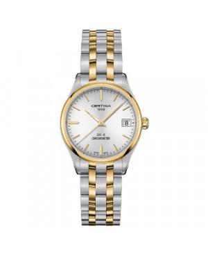 Szwajcarski, klasyczny zegarek damski Certina DS-8 Lady 30 mm C033.251.22.031.00 (C0332512203100)