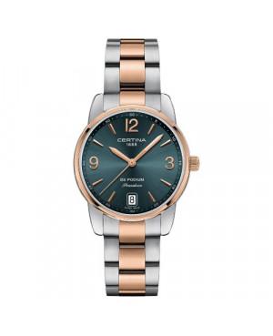 Szwajcarski, klasyczny zegarek damski Certina DS Podium Lady 33 mm C034.210.22.097.00 (C0342102209700)
