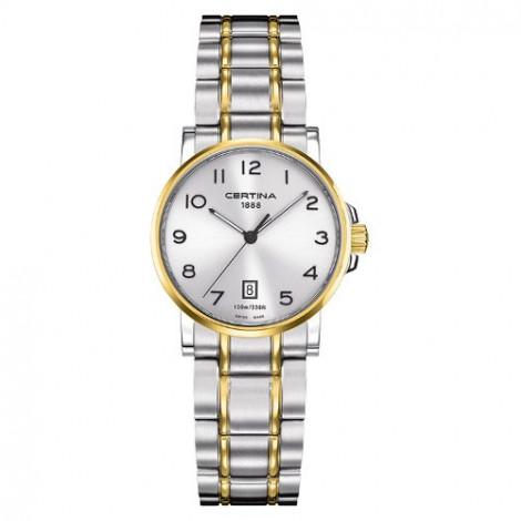 Szwajcarski, klasyczny  zegarek damski Certina DS Caimano Lady C017.210.22.032.00 (C0172102203200)