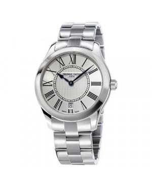 Szwajcarski klasyczny zegarek damski FREDERIQUE CONSTANT Ladies Classic FC-220MS3B6B (FC220MS3B6B) zegarek z szkłem szafirowym