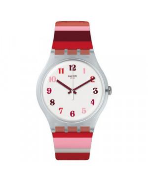 Szwajcarski, modowy zegarek damski SWATCH Originals New Gent SUOK138 TRAMONTO OCCASO