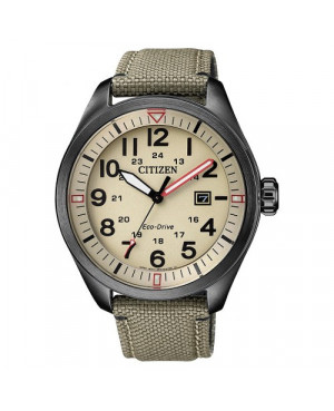 Sportowy zegarek męski CITIZEN Eco-Drive MILITARY AW5005-12X (AW500512X)
