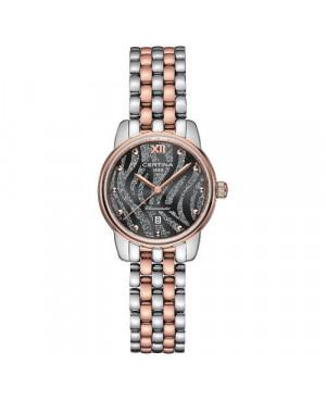 Szwajcarski, biżuteryjny zegarek damski Certina DS-8 Lady 27 mm C033.051.22.088.00 (C0330512208800)