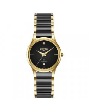 Szwajcarski zegarek damski ROAMER C-Line Diamond 657844 48 59 60