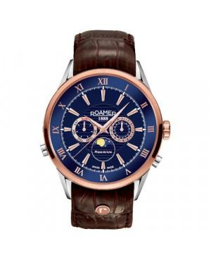 Szwajcarski zegarek męski ROAMER SUPERIOR MOONPHASE 508821 49 43 05