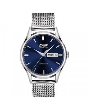 Szwajcarski, klasyczny zegarek męski TISSOT VISODATE T019.430.11.041.00 (T0194301104100) automatyczny na bransolecie
