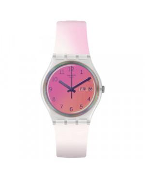 Szwajcarski, modowy zegarek damski SWATCH Originals Gent GE719 ULTRAFUSHIA