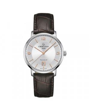 Szwajcarski, klasyczny zegarek męski CERTINA DS Caimano Powermatic 80 C035.407.16.037.01 (C0354071603701)
